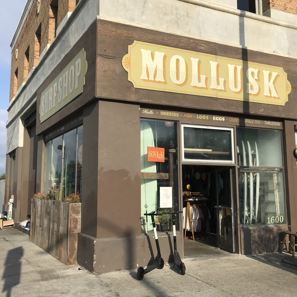 ブライン サーフショップ カリフォルニア ツアー VENICE MOLLUSK BRINE
