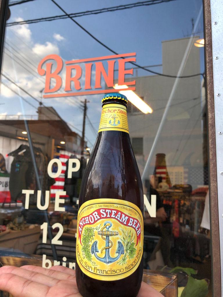 brine anchor steam beer ブライン サーフショップ