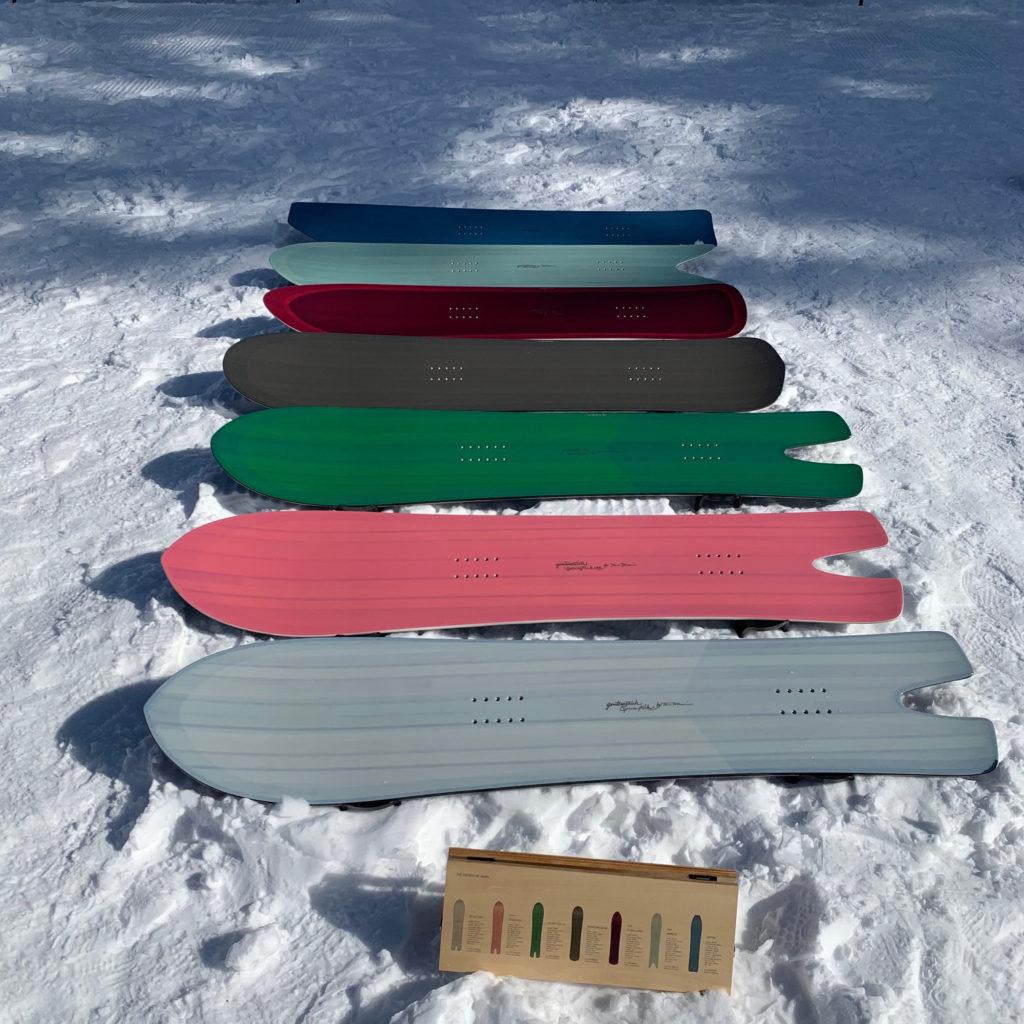 ゲンテンスティック スノーサーフ スプーンフィッシュ フライングカーペット マウンテンレーサー ブライン brine gentemstick snow surf